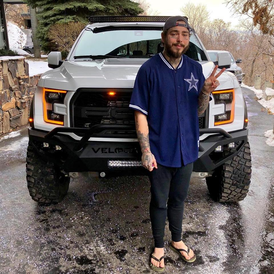 Post Malone Treats Himself To Hennessey's VelociRaptor 6x6 Pickup Truck - autoevolution