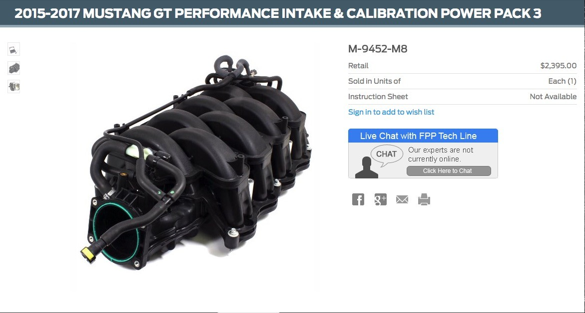 Ford Performance Now Offers Shelby GT350 Parts for the