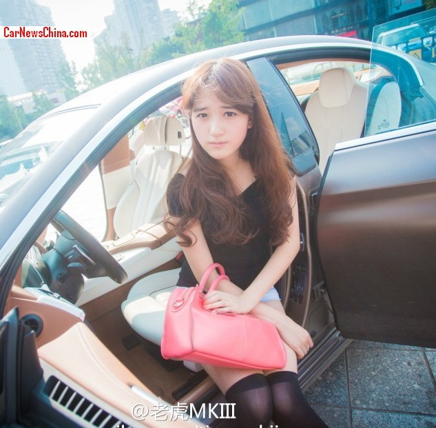 Pretty Chinese Girl Presents Bmw S 6 Series Gran Coupe