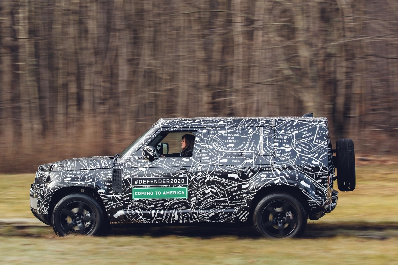 Prince Harry Checks Out the 2020 Land Rover Defender