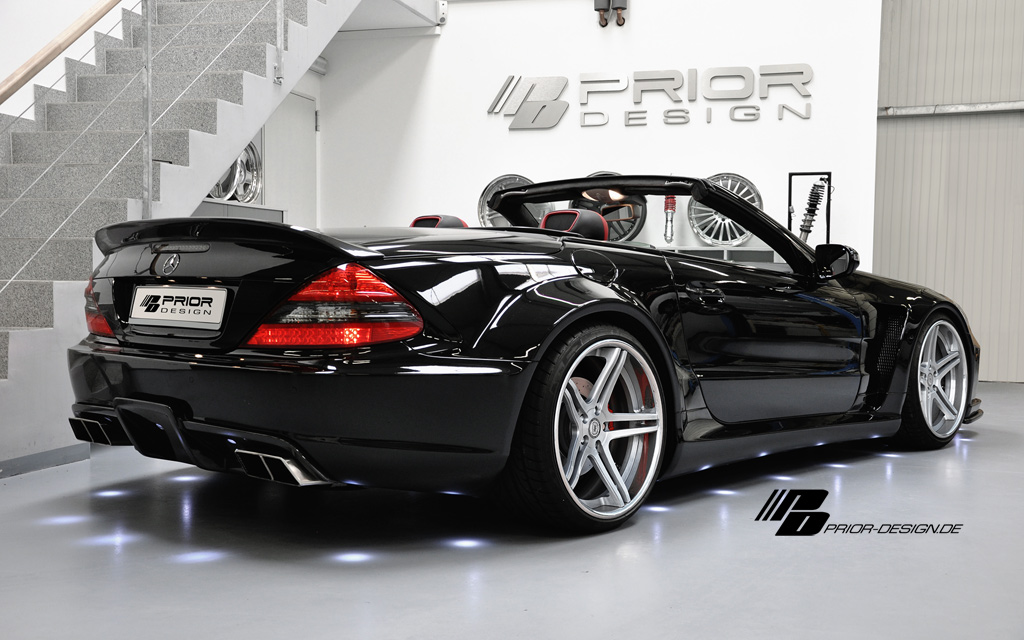 Once Driven Reviews >> Prior Design Launches the Mercedes SL Black Edition ...
