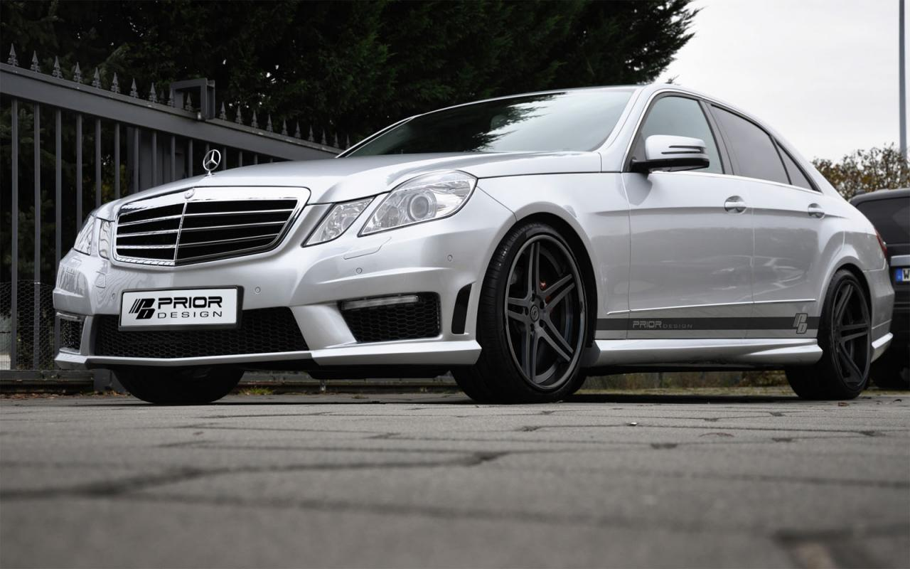 Prior design mercedes e63 amg exterior kit autoevolution for Mercedes benz exterior car care kit