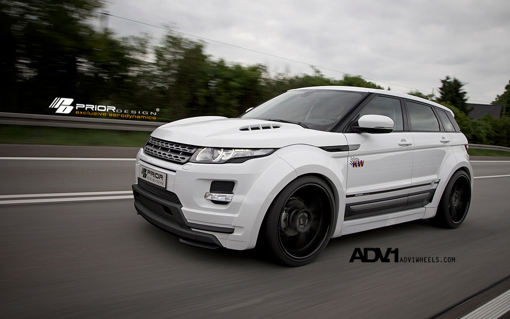 prior design reveals range rover evoque wide body kit. Black Bedroom Furniture Sets. Home Design Ideas