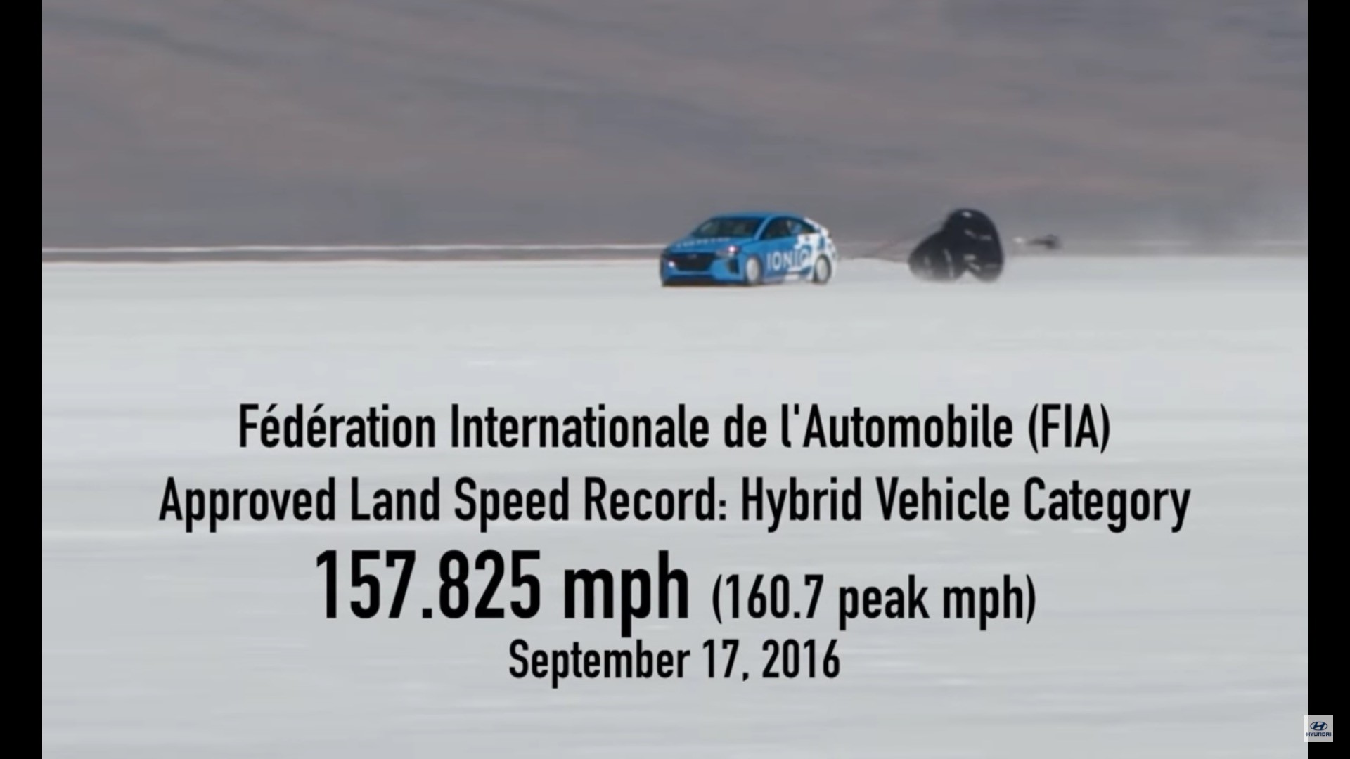 production based hybrid vehicle land speed record 157 825 mph in a