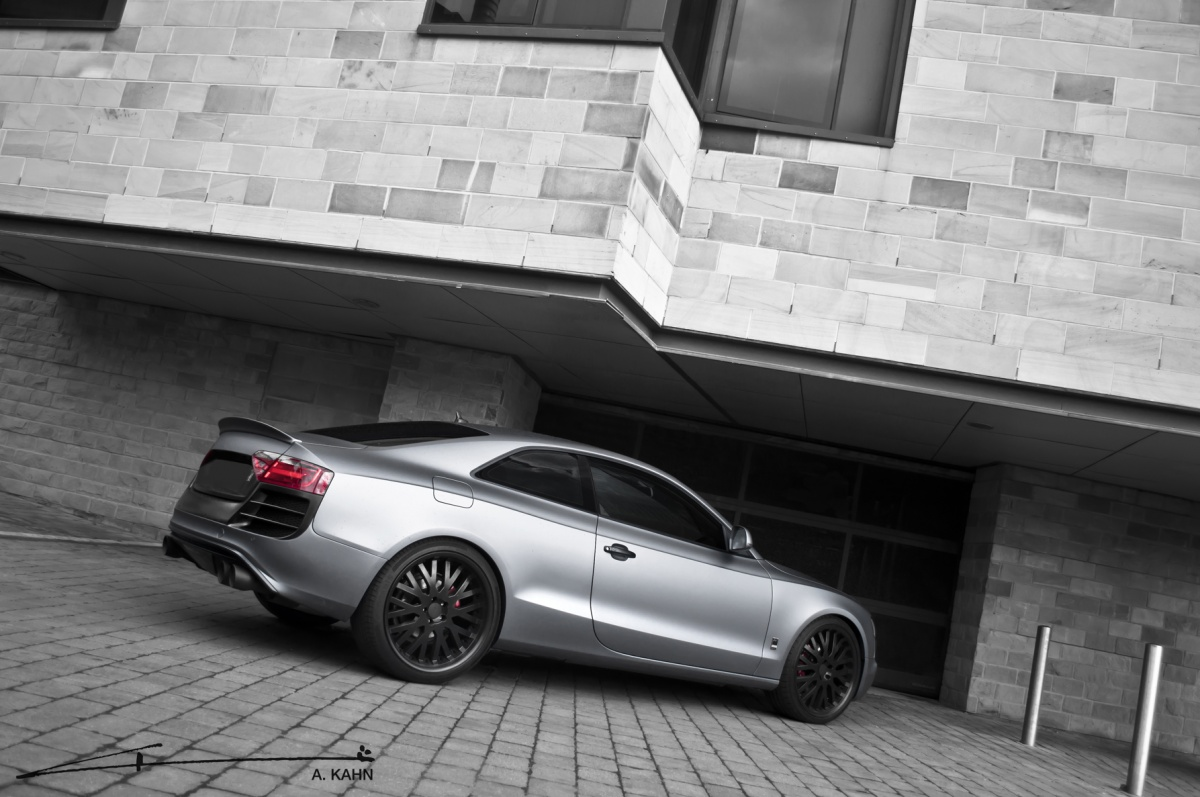 Project kahn audi a5 coupe matte pearl grey unleashed autoevolution