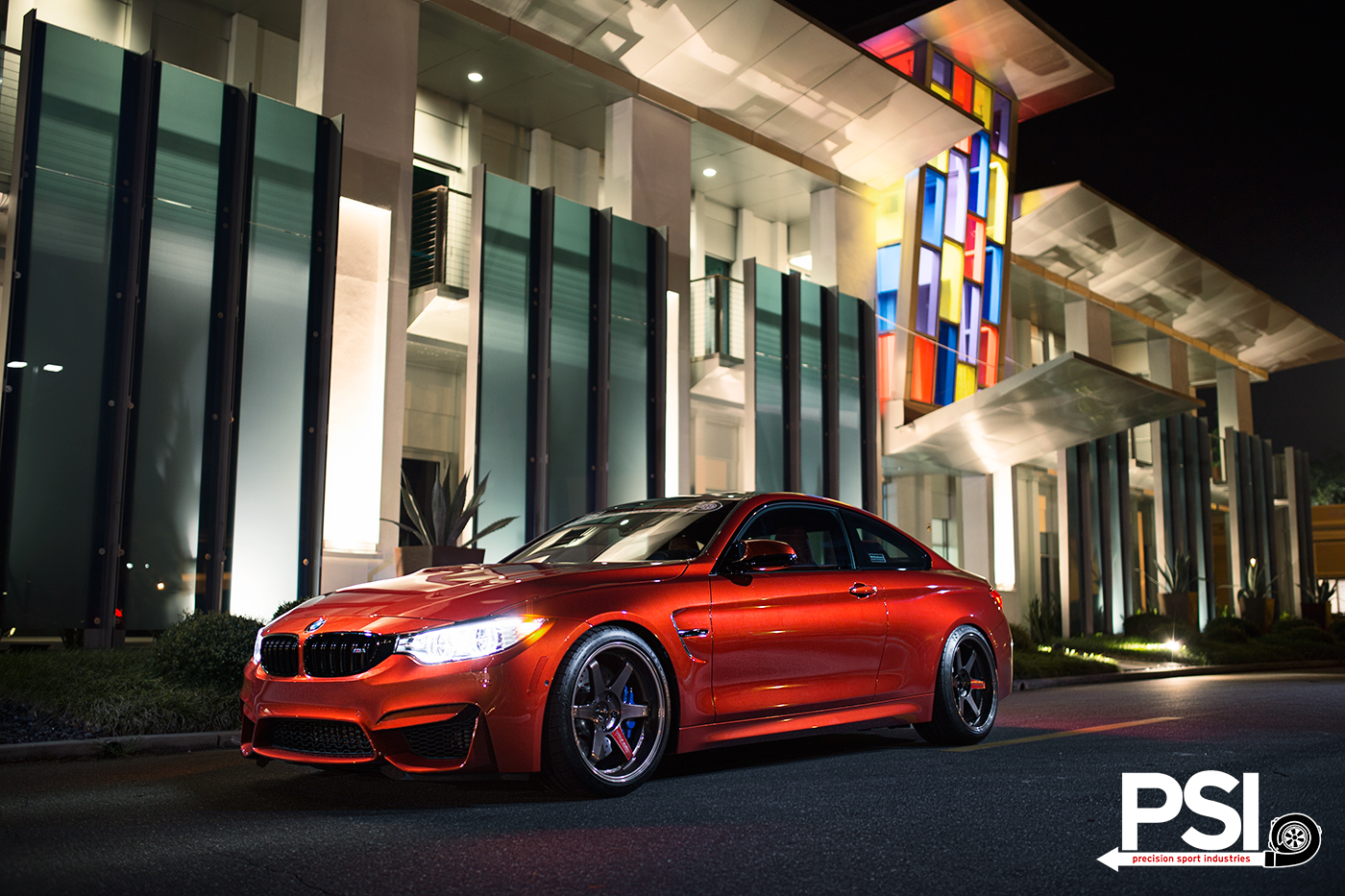 Psi S Sakhir Orange Bmw M4 Makes Some Friends Autoevolution
