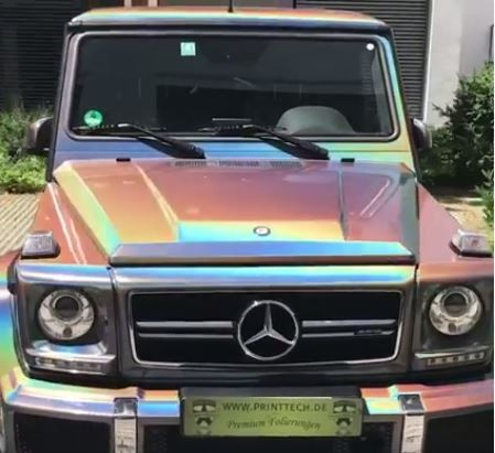 Psychedelic Chameleon Mercedes-AMG G63 Wrap Is Like an ...