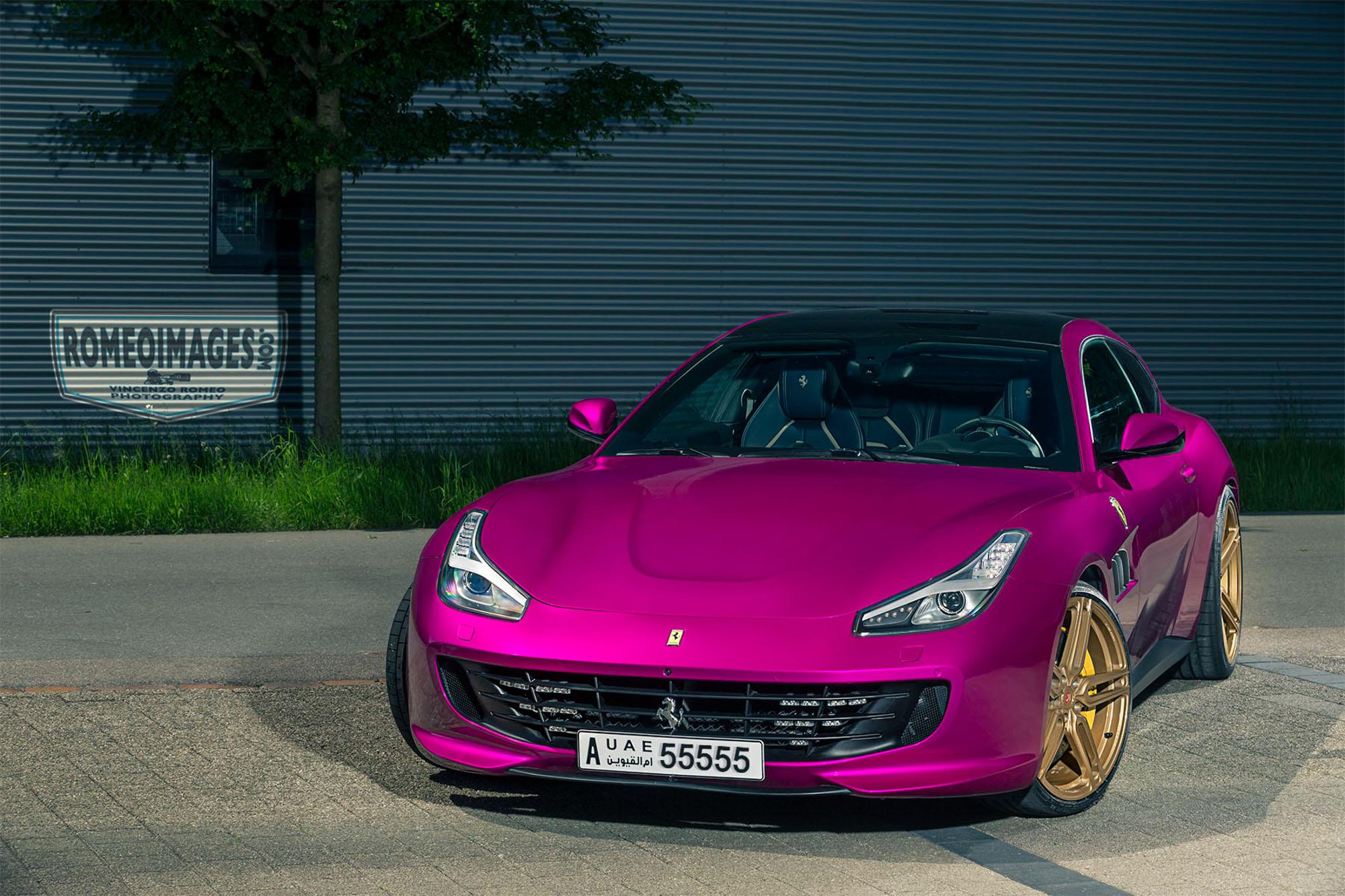 Purple Ferrari Gtc4lusso On Gold Vossen Wheels Has All The Opulence Autoevolution