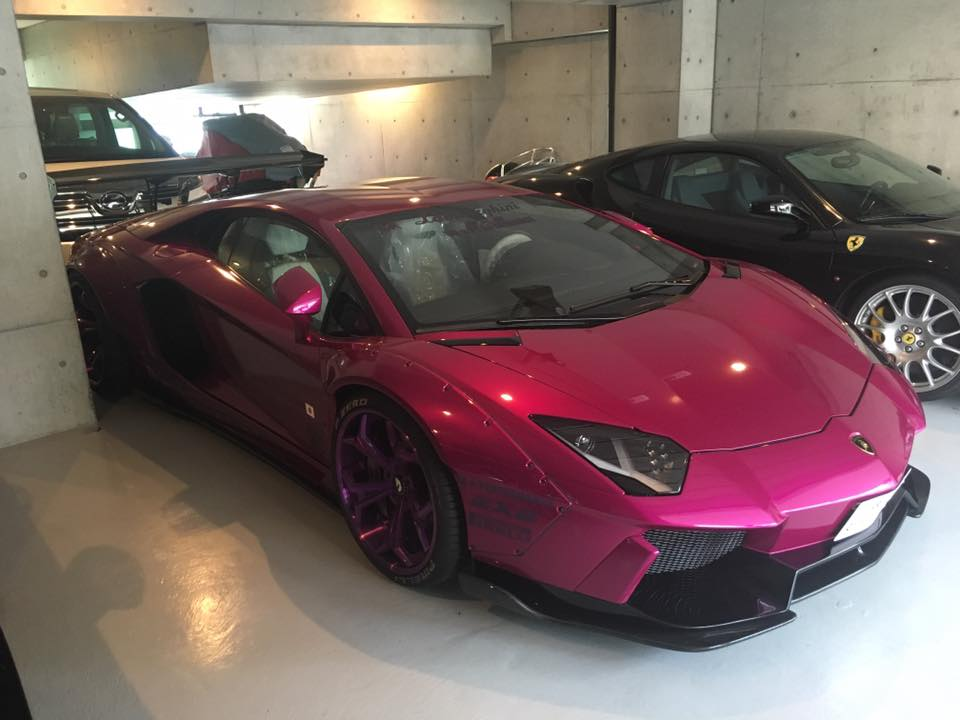 Purple Lamborghini Aventador With Liberty Walk Kit For The Japanese