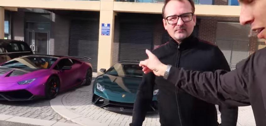 Purple Lamborghini Huracan Performante Found Abandoned In Ditch Near