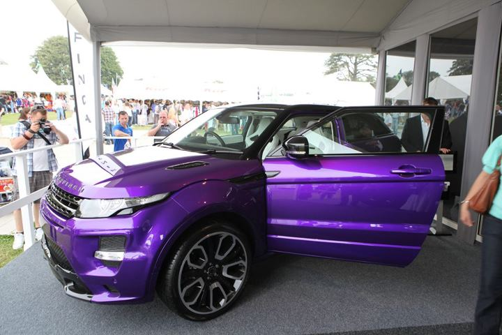 Purple Overfinch Evoque Gts At Goodwood Autoevolution