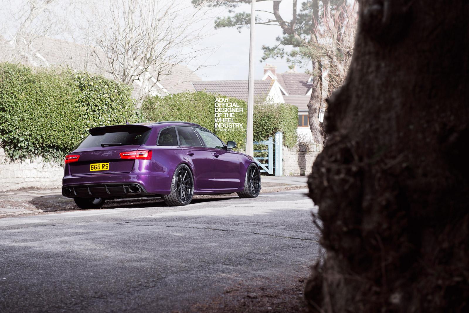 Purple Sled: Audi RS6 Avant on ADV.1 Wheels - autoevolution