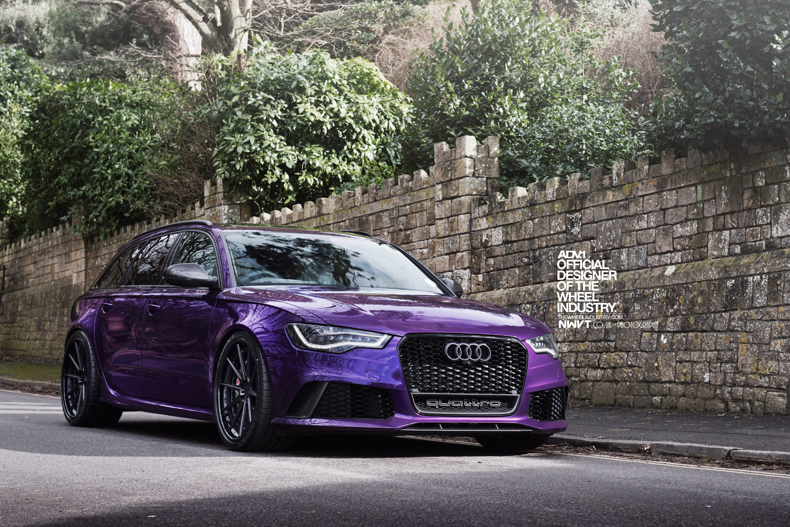 purple sled audi rs6 avant on adv 1 wheels autoevolution. Black Bedroom Furniture Sets. Home Design Ideas