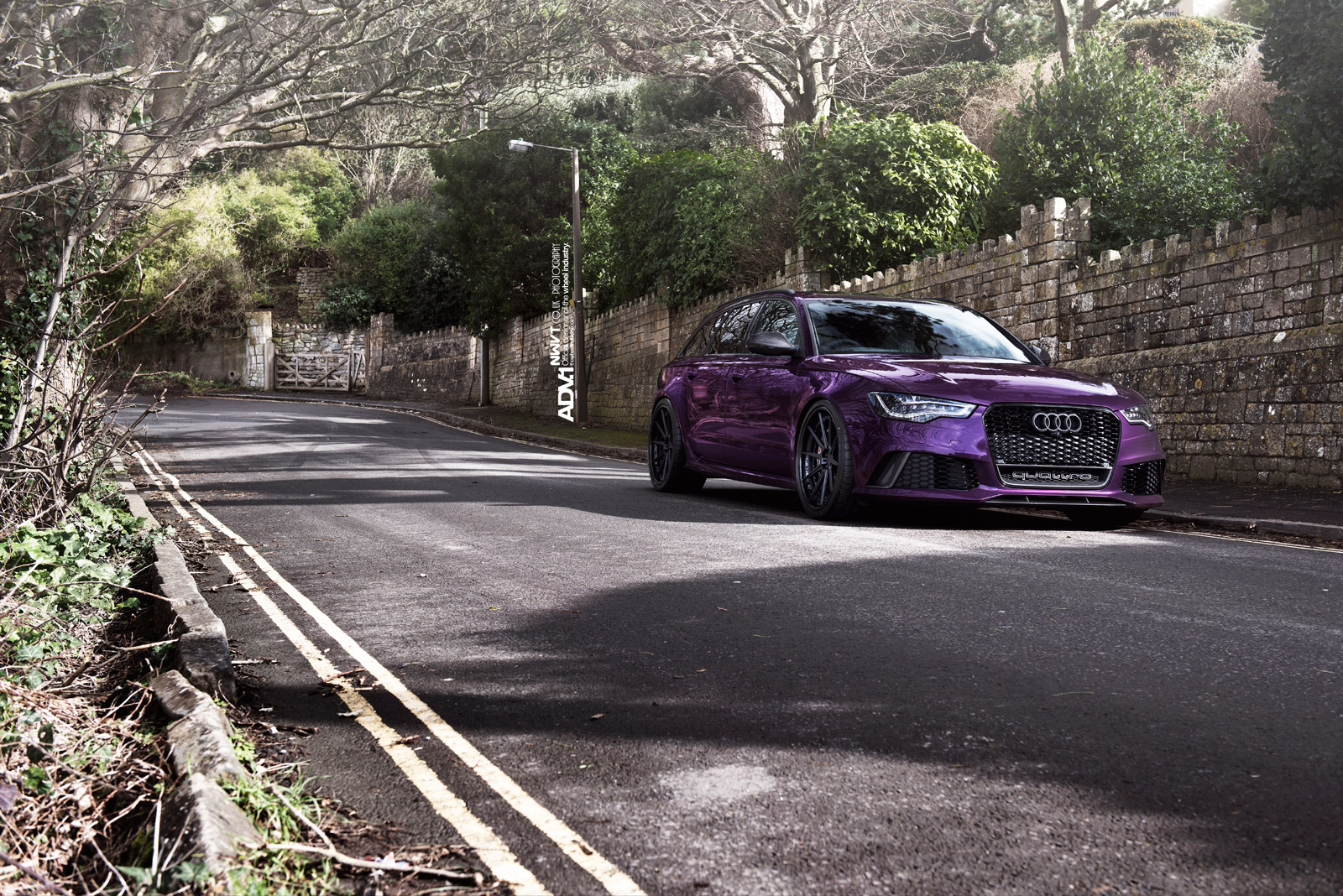 purple sled audi rs6 avant on adv1 wheels autoevolution