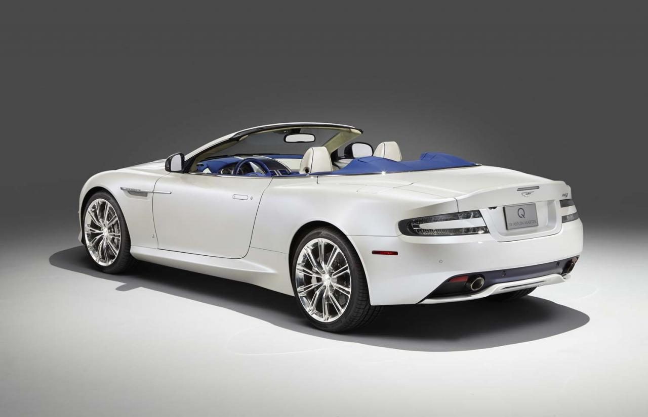 q by aston martin unveils db9 volante morning frost one off autoevolution. Black Bedroom Furniture Sets. Home Design Ideas