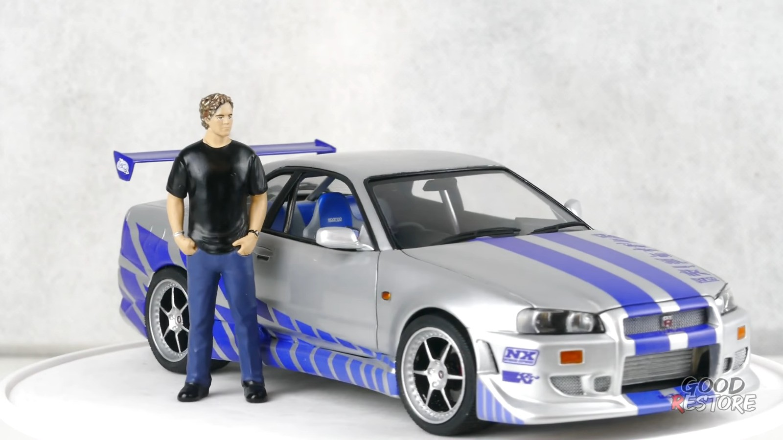 R34 Nissan Skyline Gt R From 2 Fast 2 Furious Gets Scale Model Restoration Autoevolution