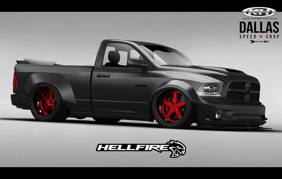 Ram 1500 + Hellcat V8 Engine = 775 HP Hellfire SEMA Truck ...