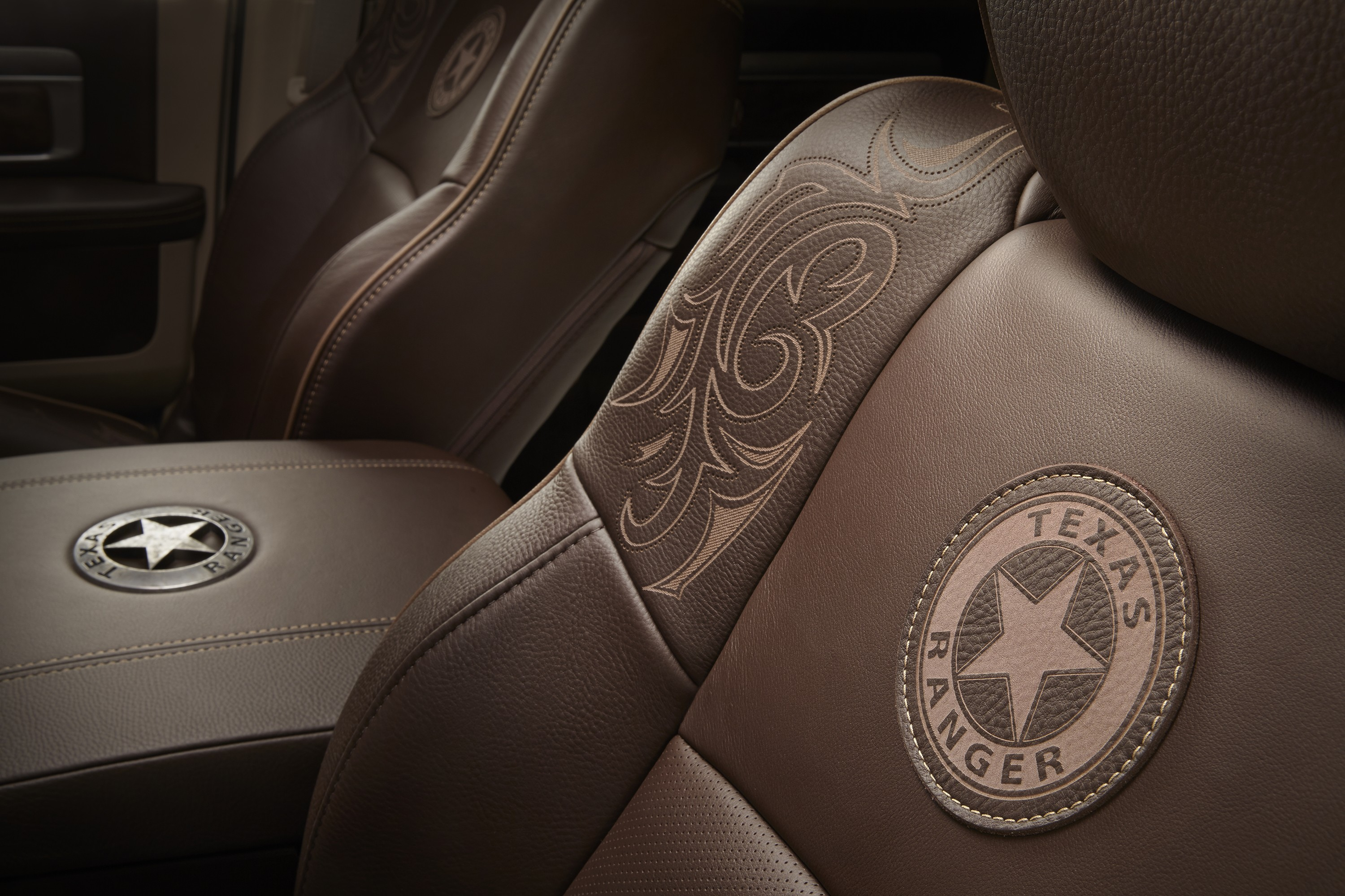 Ram celebrates the texas rangers with unique 1500 concept featuring their badge autoevolution for Texas leather interiors dallas