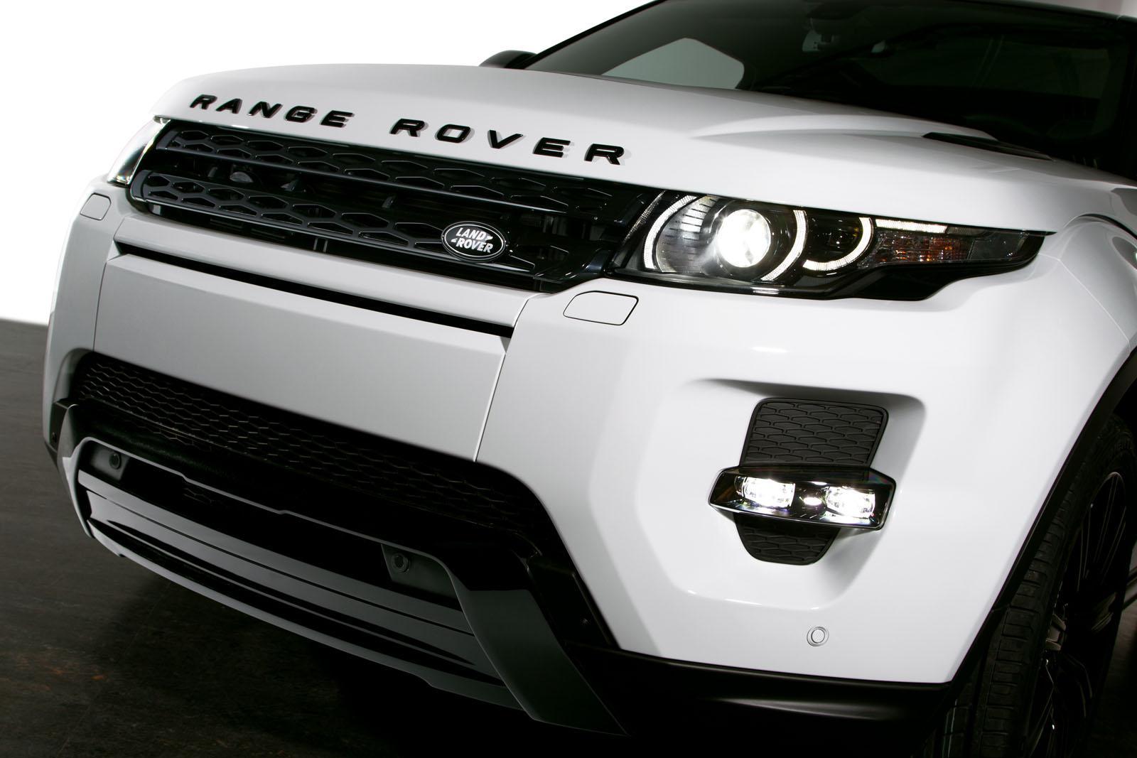 land rover car logo. range rover evoque black pack land car logo
