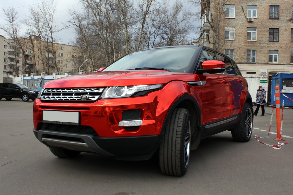 Range Rover Evoke >> Range Rover Evoque Gets the Red Chrome Treatment in Russia - autoevolution