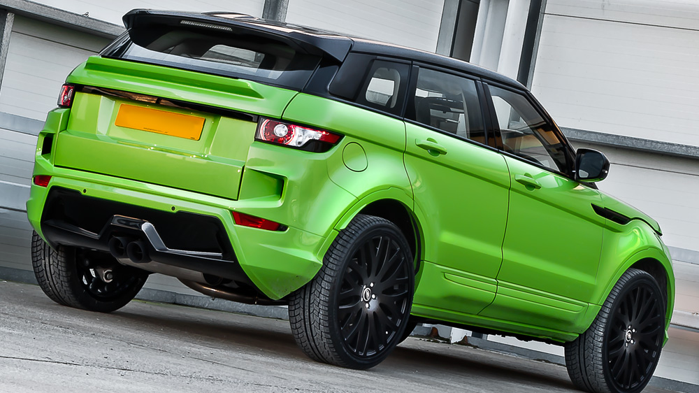 Range Rover Evoque In Lamborghini Green Pearl By Kahn