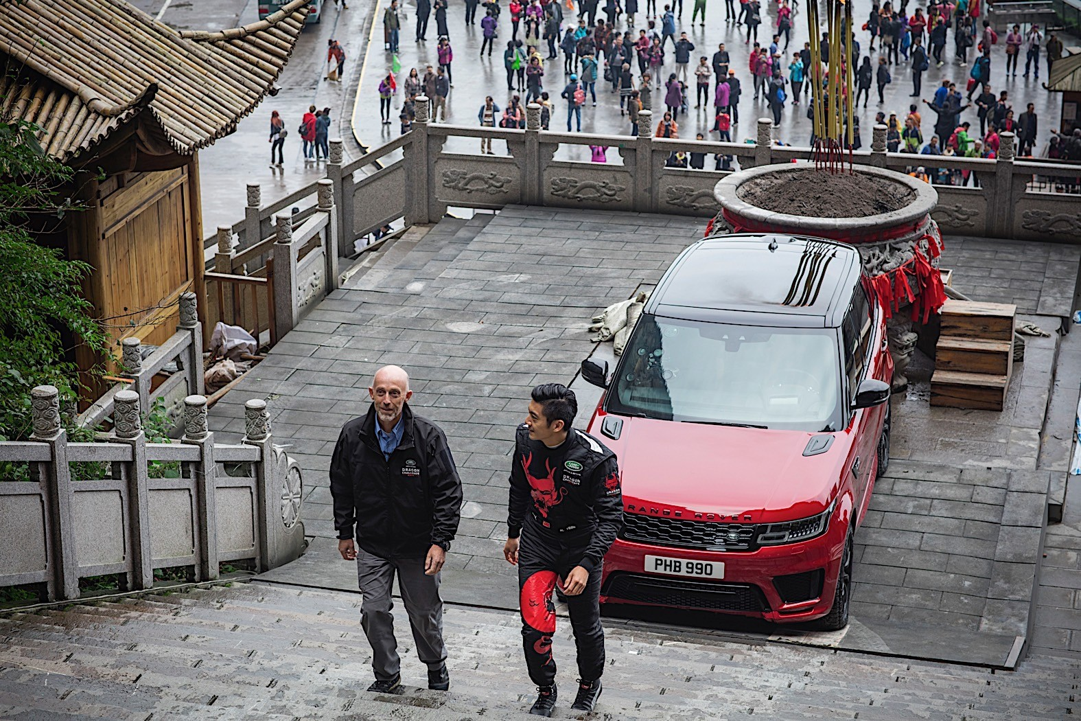 Range Rover Sport Phev Climbs 999 Steps To Heaven S Gate Autoevolution