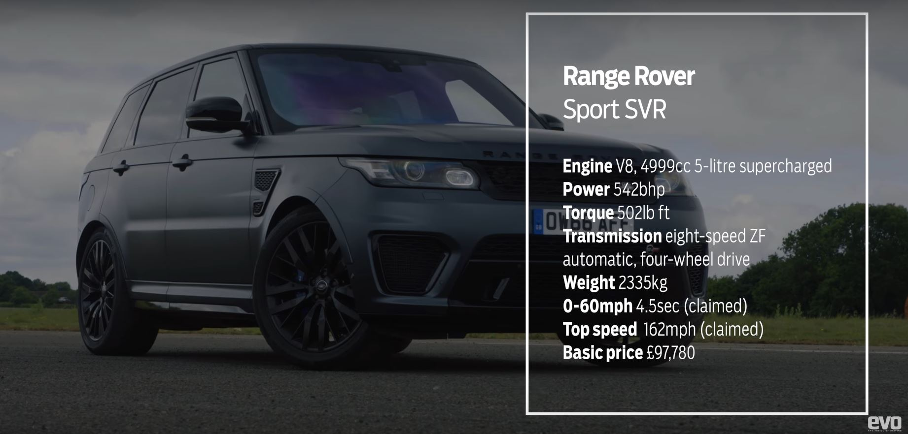 Range Rover Sport SVR vs. Caterham 360R Drag Race Proves Power Isn't ...