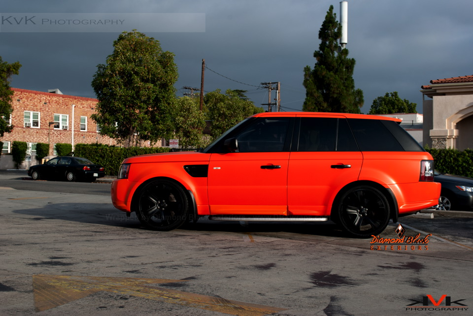 Range Rover Sport Wrapped In Orange By Dbx Video