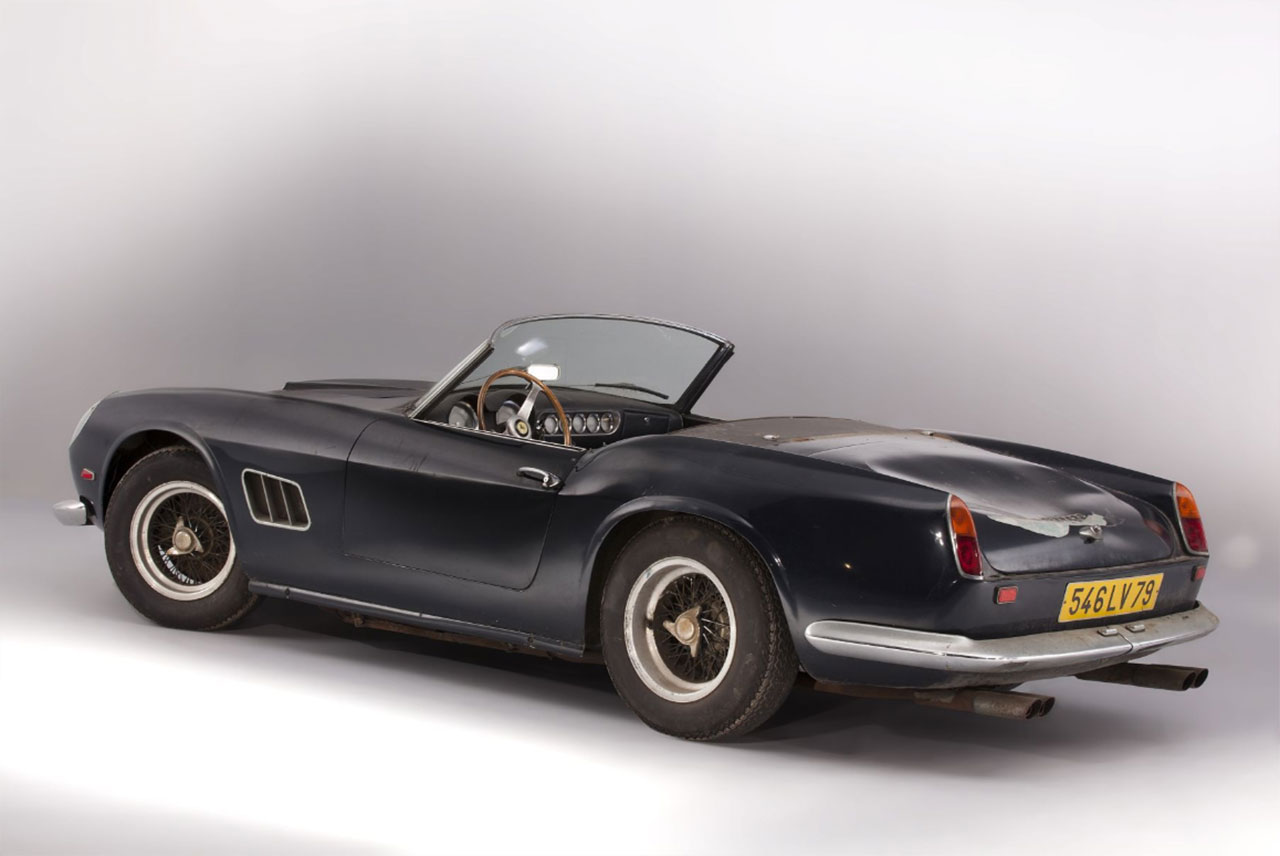 rare ferrari 250gt california spider owned by alain delon goes to auction autoevolution. Black Bedroom Furniture Sets. Home Design Ideas