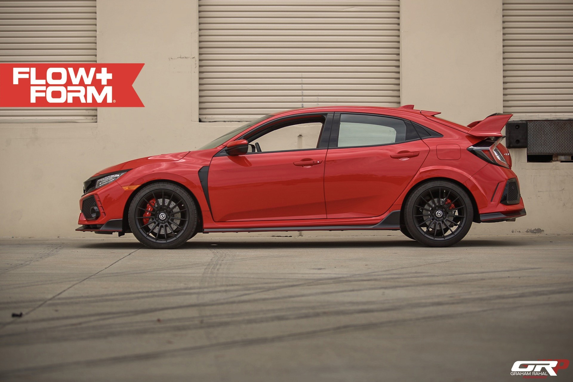 red 2018 civic type r looks complete on hre wheels autoevolution. Black Bedroom Furniture Sets. Home Design Ideas