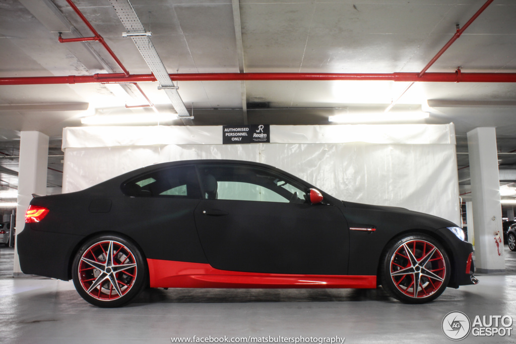 Red And Black Bmw M3