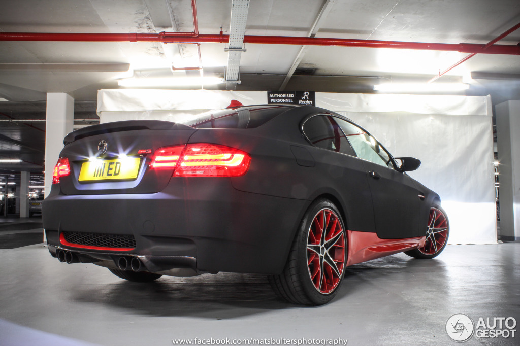 Red and Black BMW M3 Poses in Underground Garage in London ...