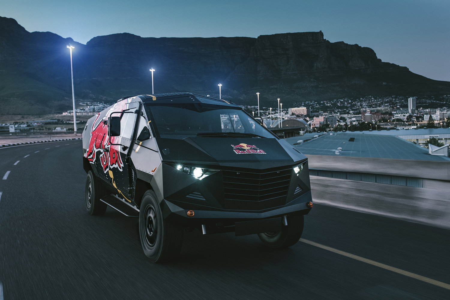 """Red Bull Reveals """"Armored"""" Event Vehicle with Stealthy ..."""