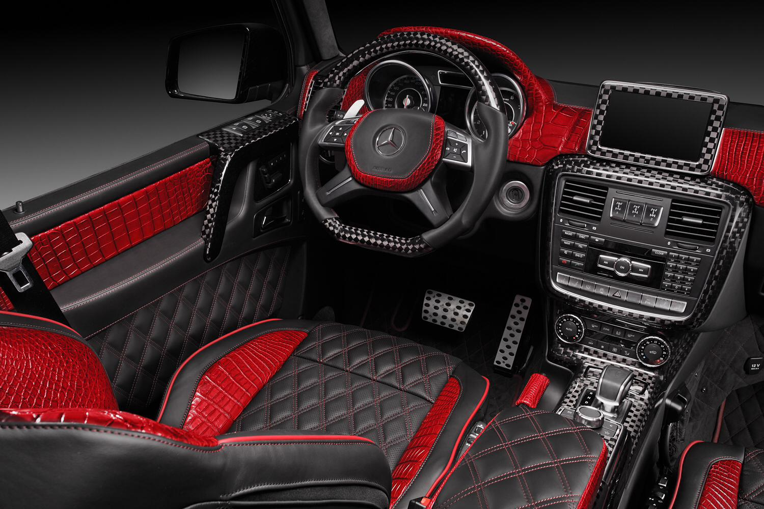 Red Crocodile Leather and Carbon Fiber Combine in G65 AMG ...