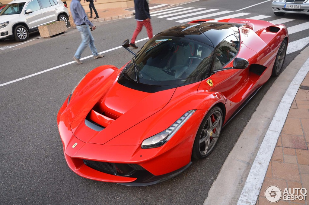 Red Laferrari Spotted In Monaco Autoevolution