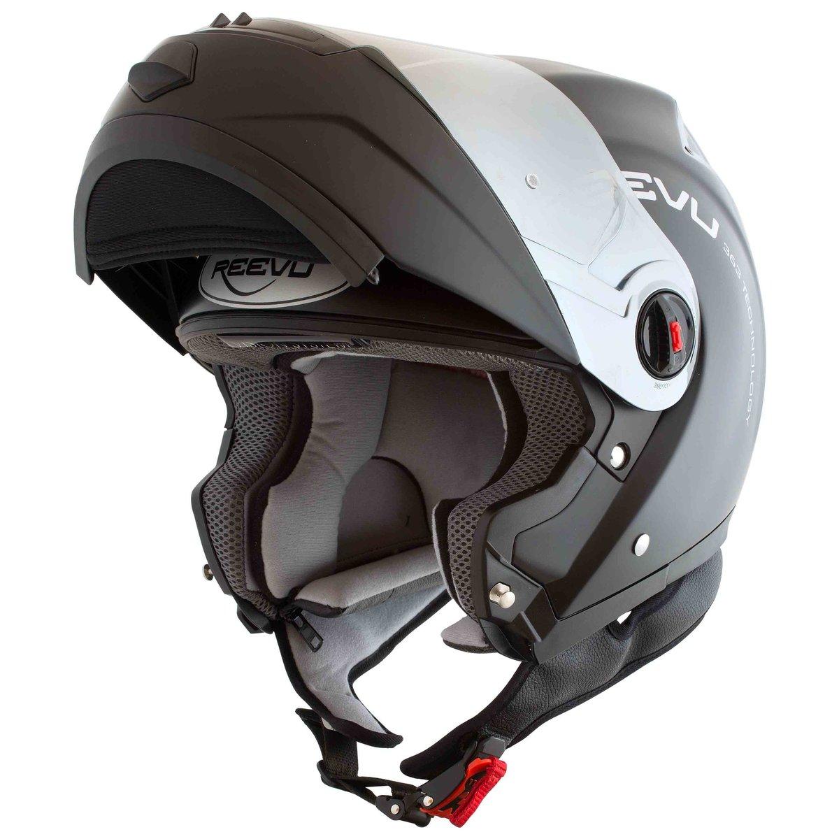 Hud Motorcycle Helmet >> Reevu RV FSX1, the Rear-View Flip-Up Helmet