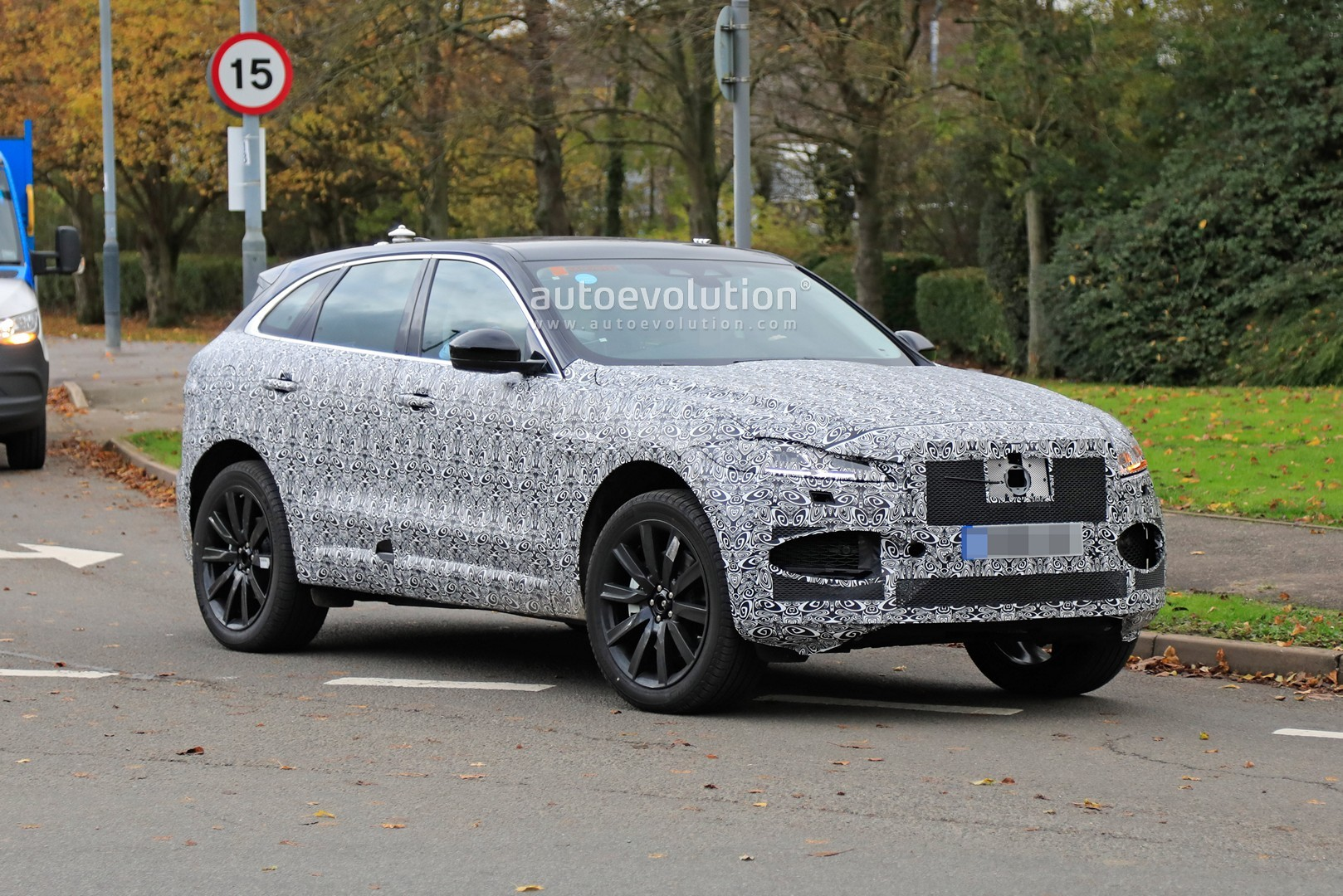 refreshed 2021 jaguar fpace spied testing in britain