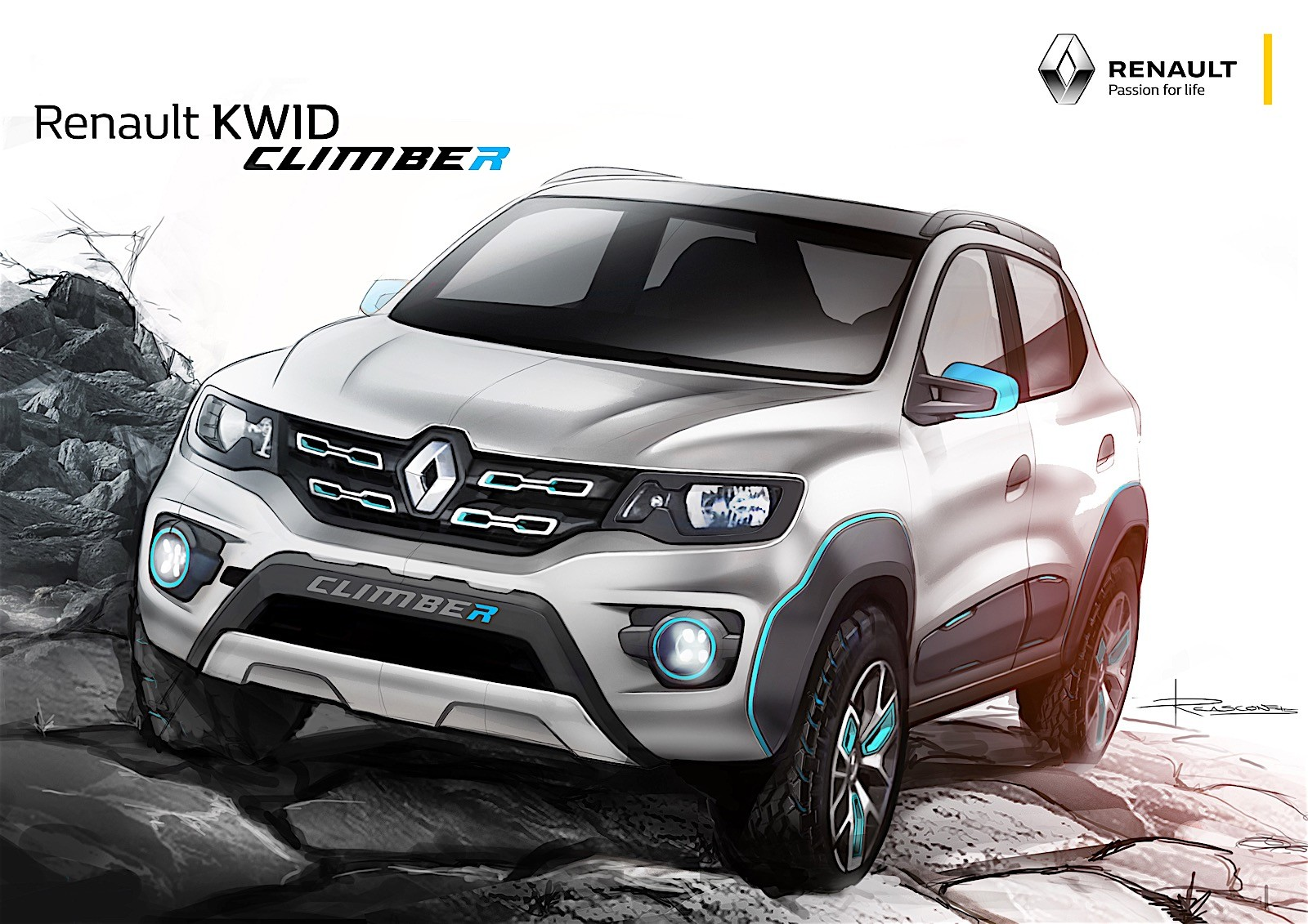 renault reveals two kwid based concepts in india autoevolution. Black Bedroom Furniture Sets. Home Design Ideas