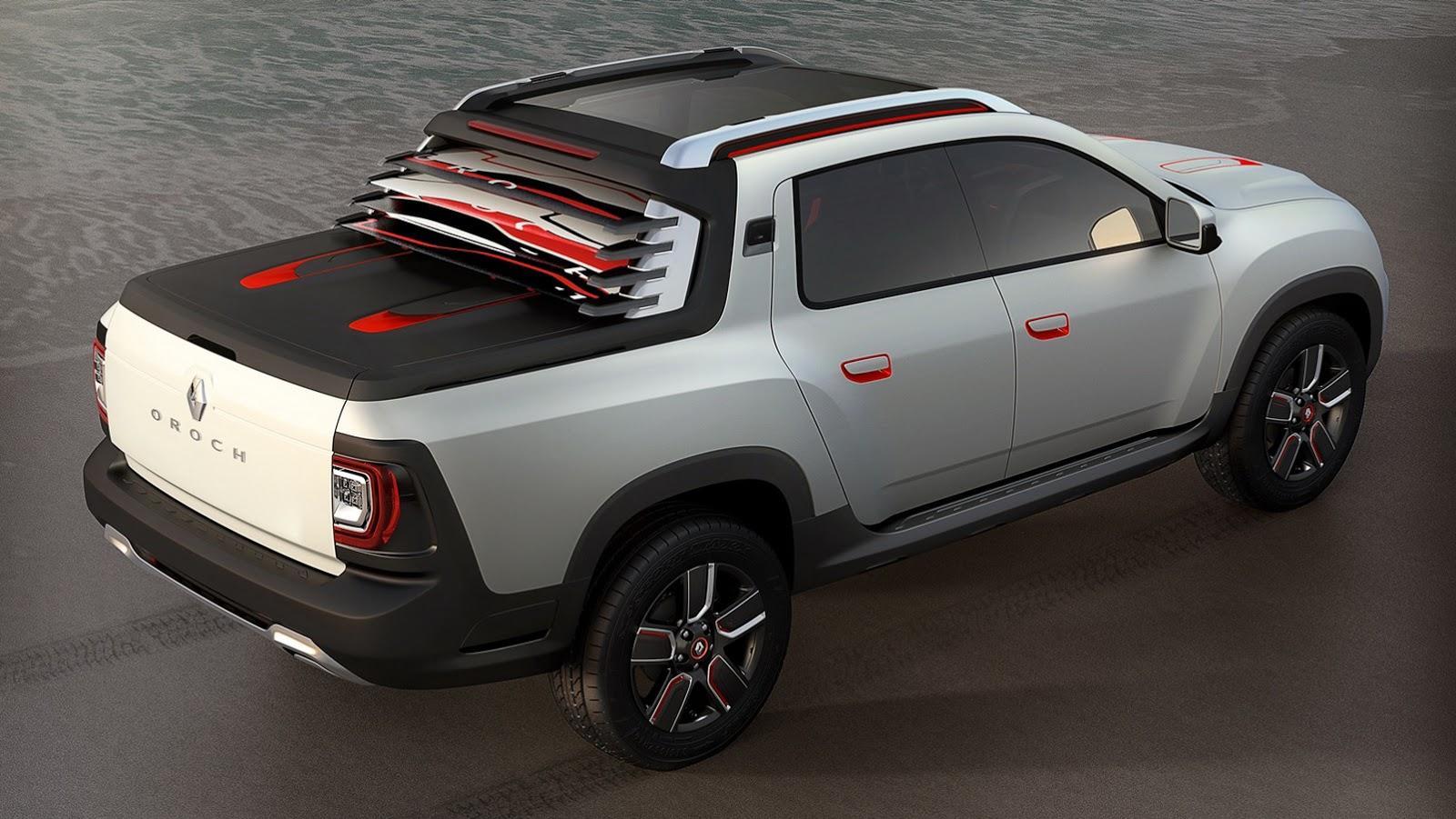 renault duster oroch concept is a 4 door pickup video autoevolution. Black Bedroom Furniture Sets. Home Design Ideas