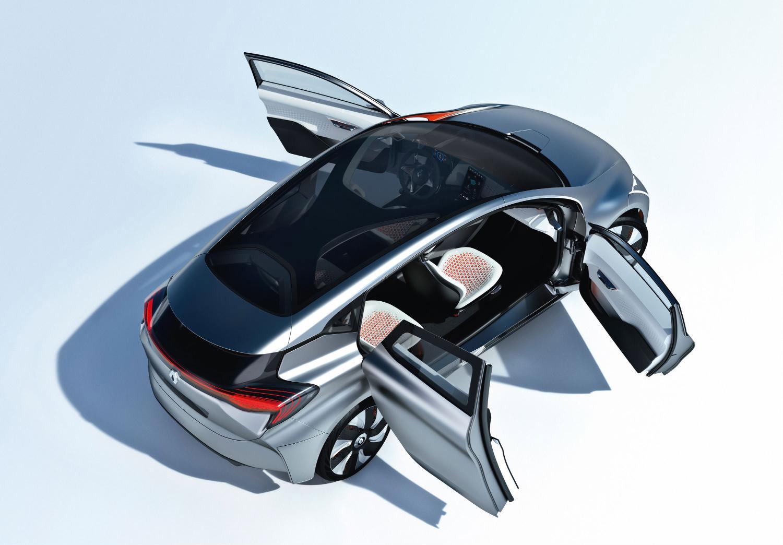 Автомобиль со стеклянной крышей Renault Eolab Concept