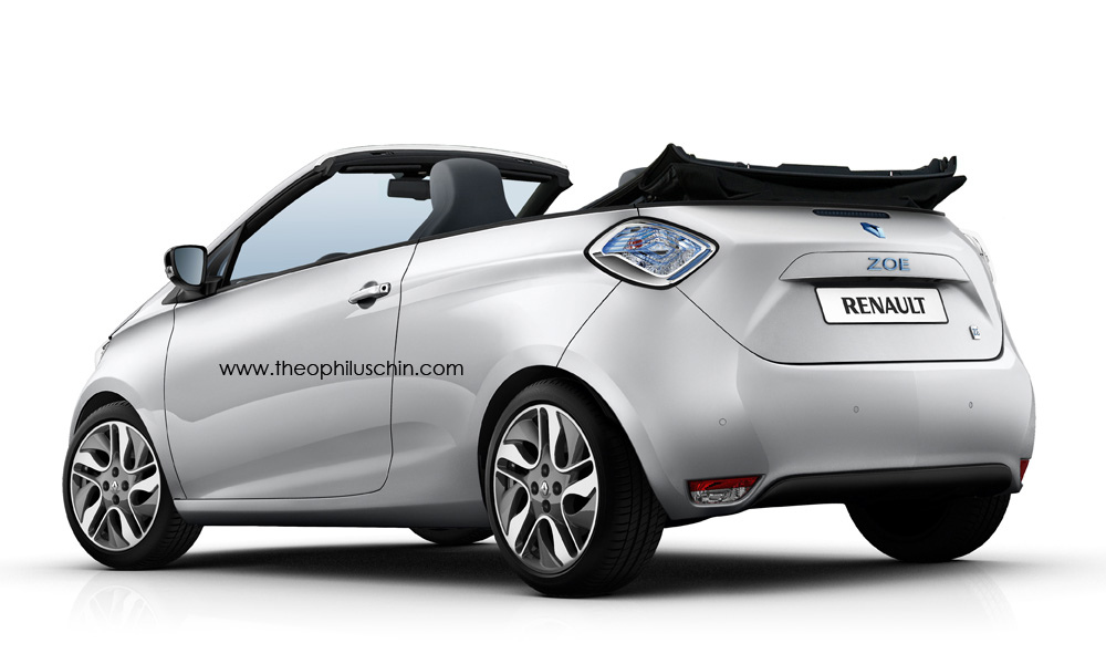 renault zoe cabriolet rendered again autoevolution. Black Bedroom Furniture Sets. Home Design Ideas