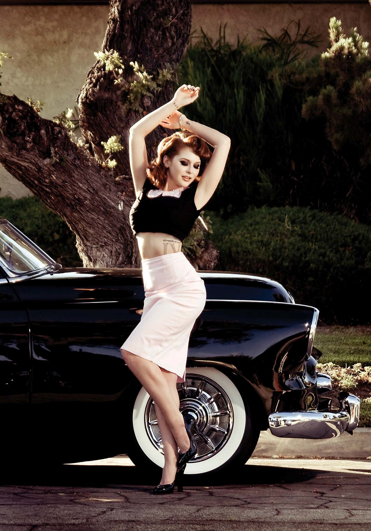 Renee Olstead Is Gangsta-Hot Next to a Chevy Deluxe ...