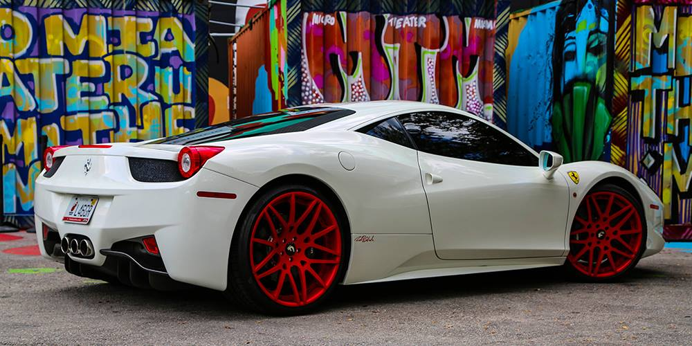 rick ross ferrari 458 italia gets red forgiato wheels