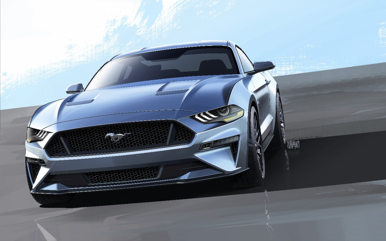 right-hand drive 2018 ford mustang spied in pre-production guise