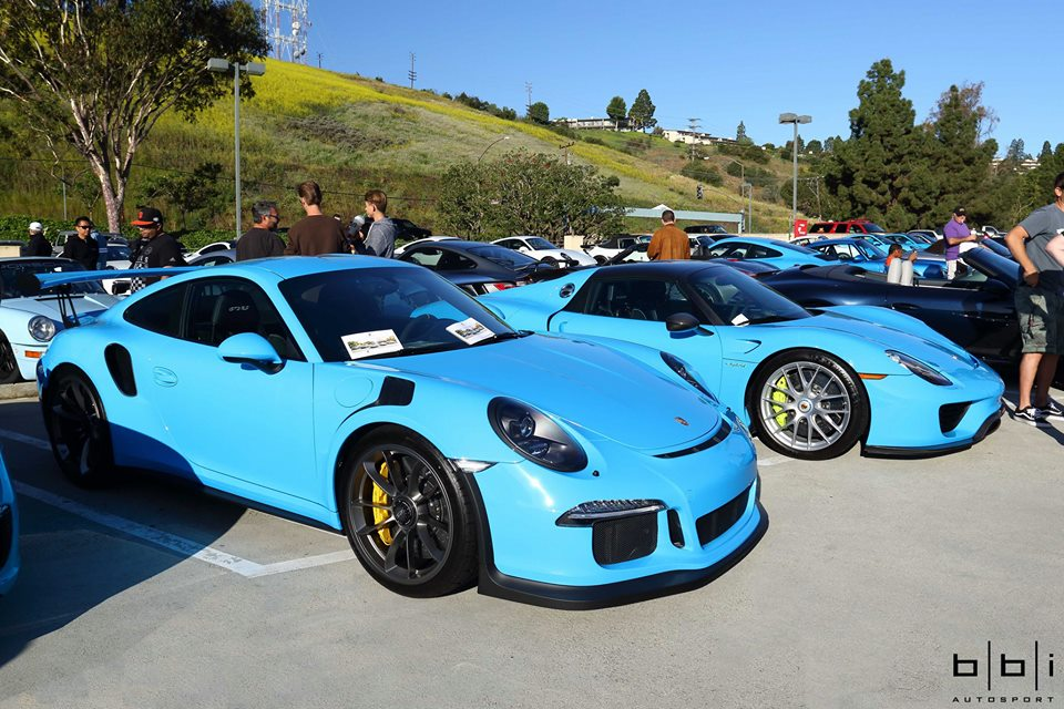 Riviera Blue Porsche 918 Spyder And 911 Gt3 Rs Unforgettable Cars Cofee Combo 107092on 2017 Porsche 718 Cayman Engine