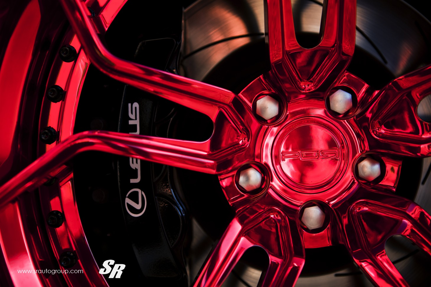 rocket bunny lexus rc f gets candy red pur wheels