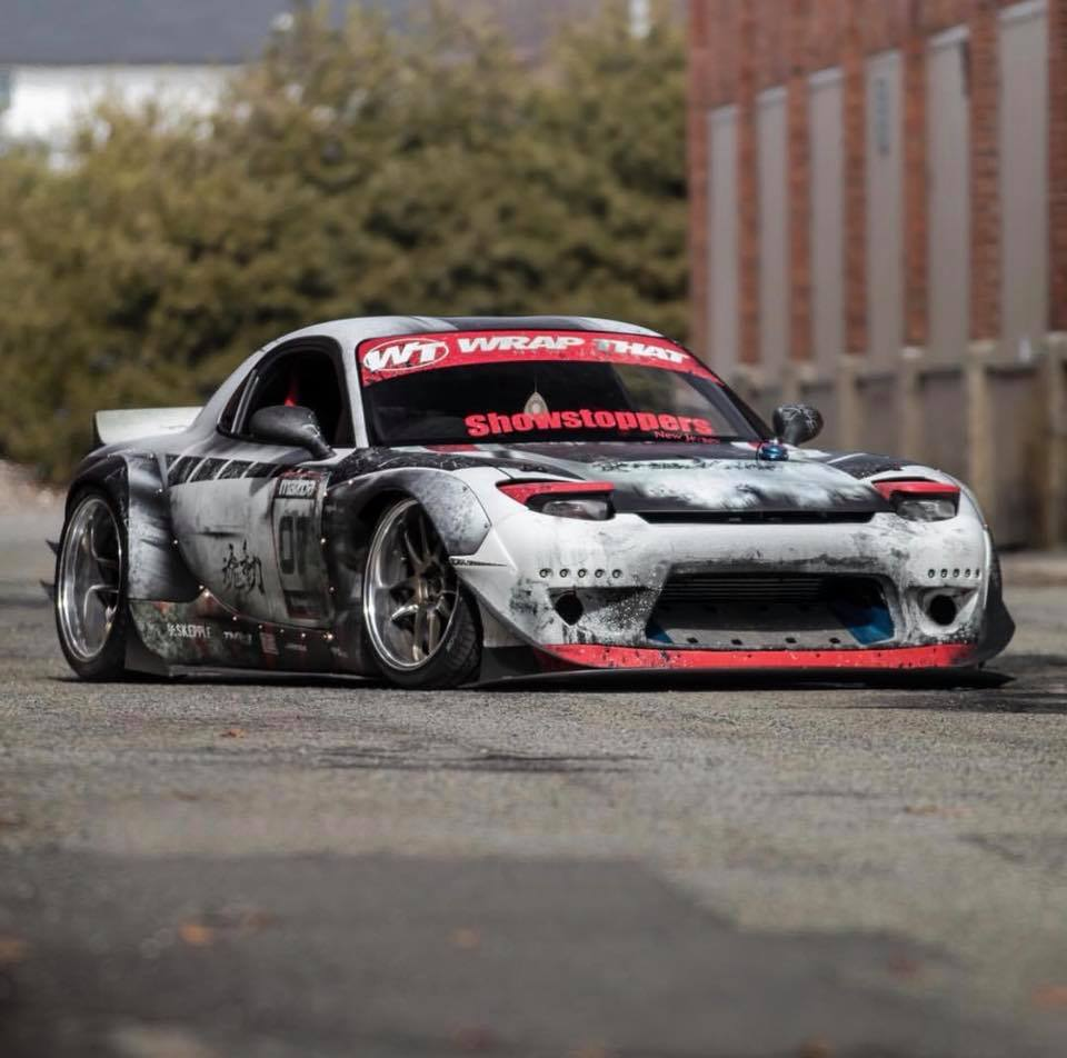 weathered wrap transforms rocket bunny mazda rx 7 autoevolution. Black Bedroom Furniture Sets. Home Design Ideas