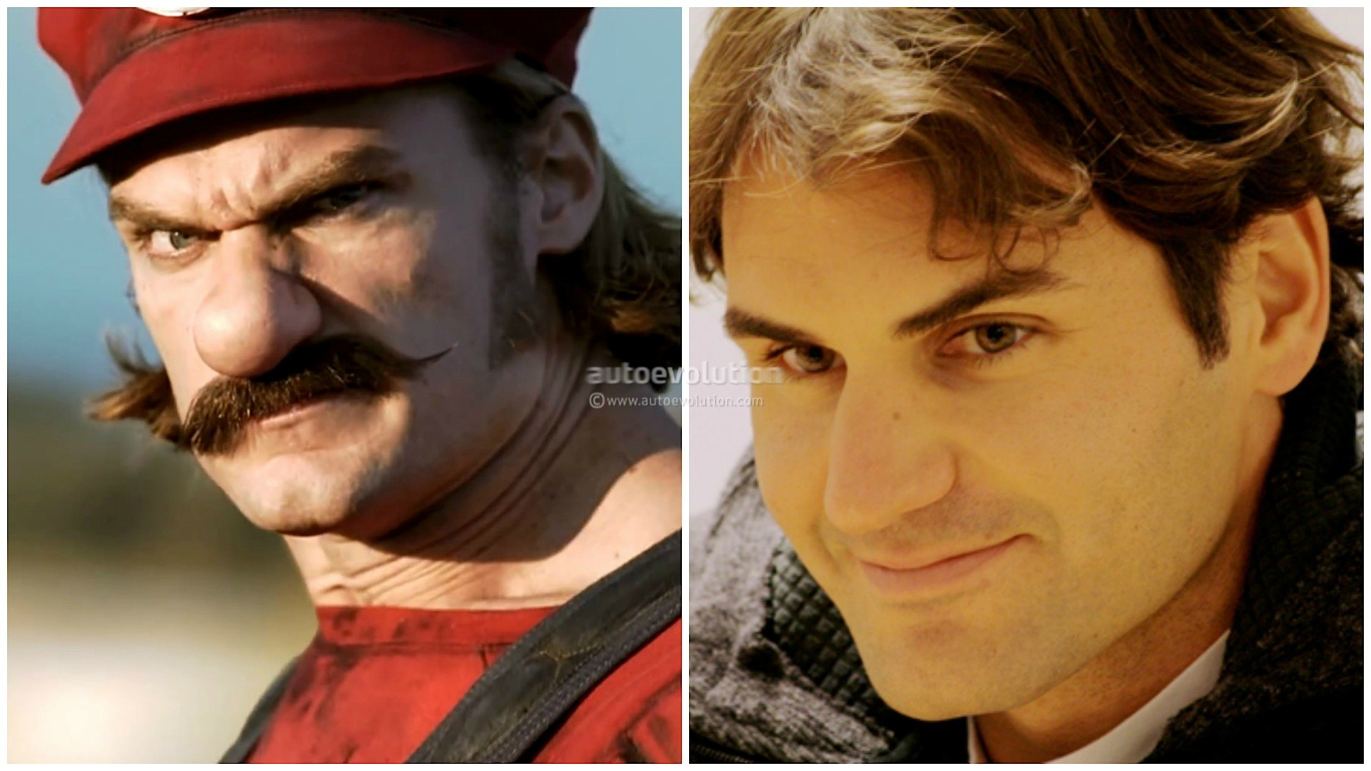 Roger Federer and Novak Djokovic Played Mario and Luigi in