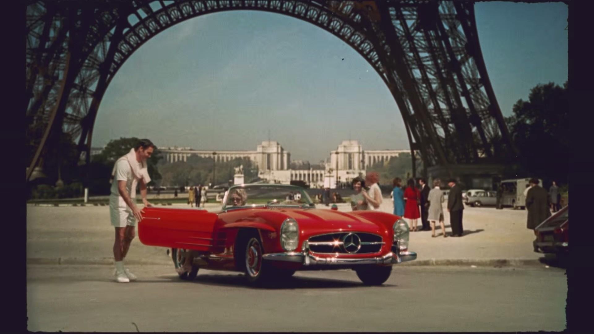 Mercedes Eiffel Tower : Roger federer endorses mercedes benz sl in weird