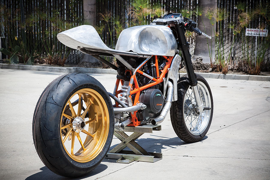roland sands shows the ktm 690 cafe moto autoevolution